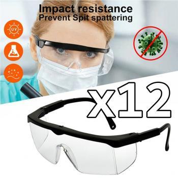 Koruyucu Gözlük - Genel Kullanım Laboratuvar - Sap Ayarlı 12 ADET