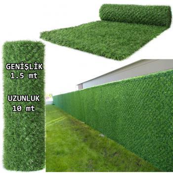 1.Kalite Yeşil Çim Çit Bahçe Teli 1.5x10 mt