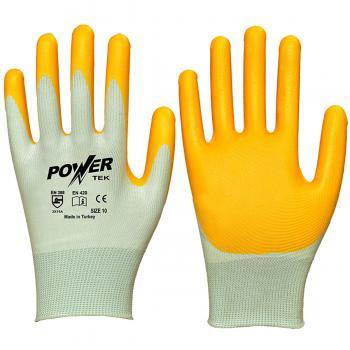 Power Tek Sarı Nitril Kaplı İşçi İş Eldiveni XL/10