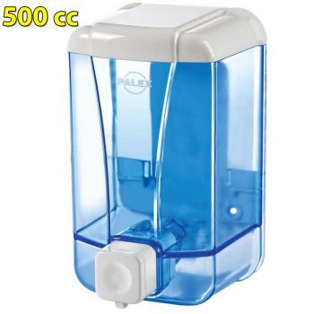 Palex Şeffaf Mavi Sıvı Sabun Dispenseri Sabunluk 500 cc