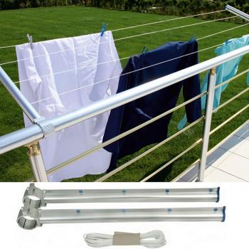 Asvera Küpeşte Balkon Çamaşır Kurutma Askısı Kurutmalık Yuvarlak
