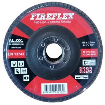 FireFlex 115x22 mm Alüminyum Flap Disk Zımpara 80 Kum
