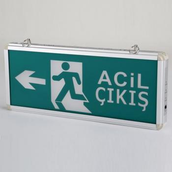 Acil Çıkış Levhası Şarjlı Ledli Exit Armatürü 15x36 cm