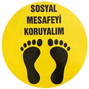 Sosyal Mesafeyi Koruyalım Etiketi Sticker 32 cm