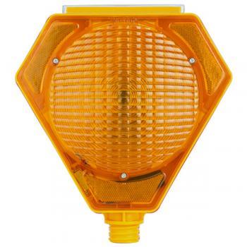 Güneş Enerjili Solar Uyarı Lambası Sarı Üçgen Flaşörlü