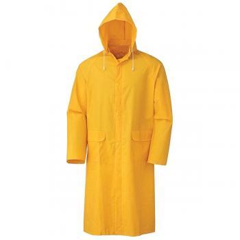 Polyester Sarı Yağmurluk 2 Cepli Pardesü Pvc XXL