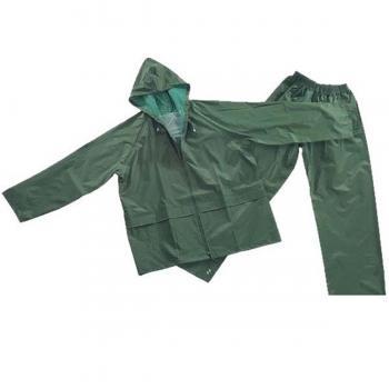 Yeşil Yağmurluk Alt Üst Takım Beli Lastikli XL