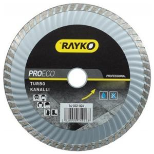 Rayko Turbo Kanallı Profesyonel Elmas Testere 115x2,5x7x22,2