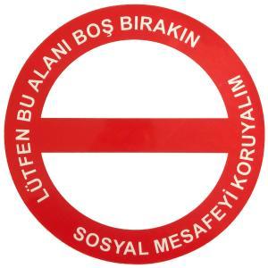Lütfen Bu Alanı Boş Bırakın Etiketi Sticker 32 cm