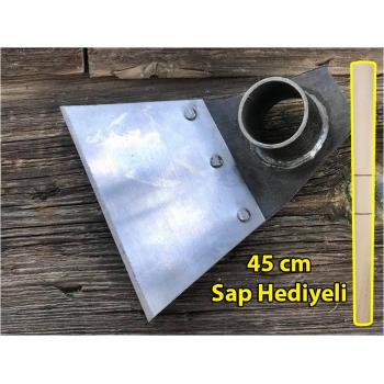 Perçinli Çelik Çapa Tek Taraflı 12x13 cm Sap Hediyeli 45 cm