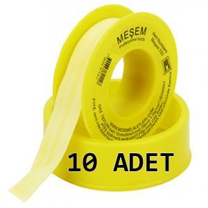 Doğalgaz Teflon Bant Sarı 12 mm 10 ADET