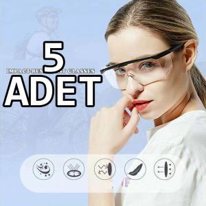 Koruyucu Gözlük - Genel Kullanım Laboratuvar - Sap Ayarlı 5 ADET