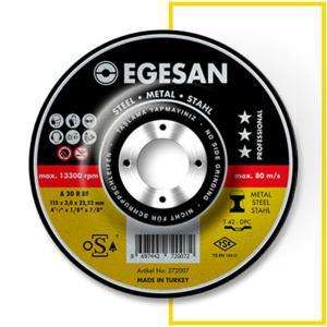 Egesan Metal Kesici Taş Metal Kesme Taşı 115x6,0x22 mm