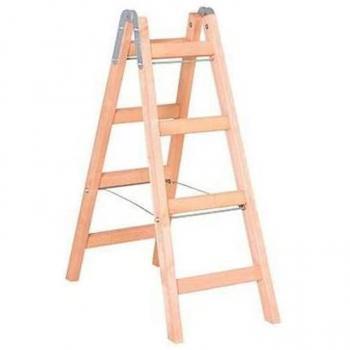 Seçkin 5+5 Çift Çıkışlı Taraflı Ahşap Merdiven 5 Basamaklı