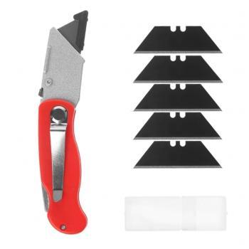Foldable Knıfe Çok Amaçlı Katlanabilir Falçata Halı Alçıpan Falçatası (Yedek Bıçak Hediyeli)
