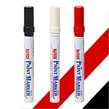 Alteco Paint Marker Keçeli Kalem Kırmızı Siyah Beyaz Su Geçirmez