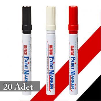 Alteco Paint Marker Keçeli Kalem Su Geçirmez 20 ADET