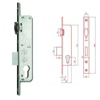 İto 159E/30 mm Silindirli Tip Gömme Kapı Kilidi