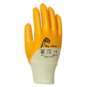My Star Sarı nitril Kaplı Pamuklu İşçi İş Eldiveni XL/10