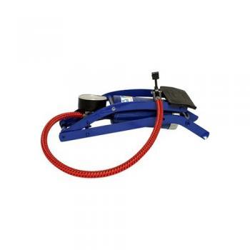 Fluina Göstergeli  Ayak Pompası Hava Pompası İnce Pistonlu 0-100 Psi