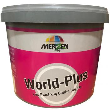 Merzen World-Plus Lüx Plastik İç Cephe Boyası Beyaz Fildişi 10 Kg