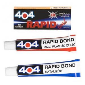 404 Epoksi Plastik Çelik Çift Karışım Şeffaf Yapıştırıcı 16 gr